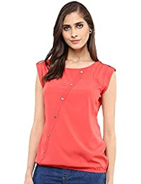 J B Fashion Women's Western Wear Crepe Top