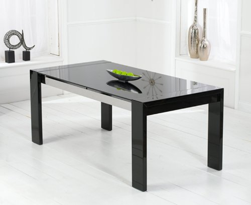 CANNES High Gloss Dining Table in Black