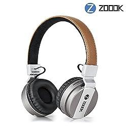 (CERTIFIED REFURBISHED) Zoook ZB-Rocker Bomb Bluetooth Headphones (Brown)