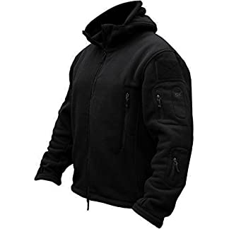TACVASEN Windproof Men's Military Fleece Combat Jacket Tactical Hoodies 6