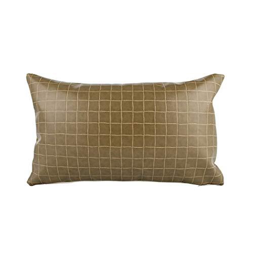 DUHUI Nordischen Stil Kissen Wohnzimmer Leder Sofa Lederkissen Einfache Moderne Kissen mit Kern (Farbe : Green, größe : 30x50cm) - Stil-leder-sofa