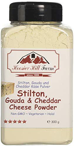 Stilton Cheese Powder (300 Grams) Easy Ingredient and Robust Blue Cheese Topping by Hoosier Hill Farm
