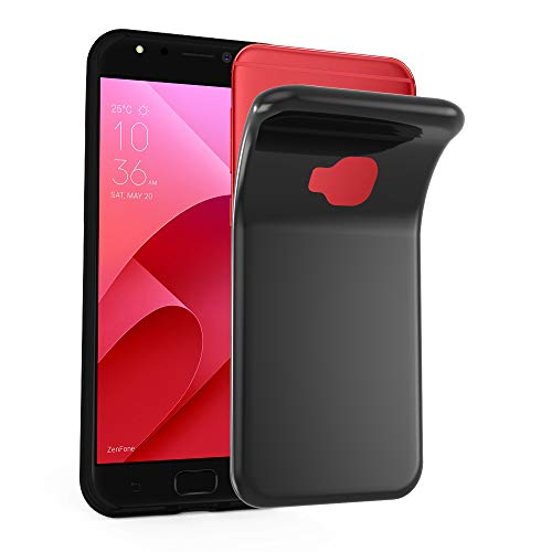 Cadorabo Hülle für ASUS ZenFone 4 Selfie PRO - Hülle in SCHWARZ – Handyhülle aus TPU Silikon im Ultra Slim 'AIR' Design - Silikonhülle Schutzhülle Soft Back Cover Case Bumper