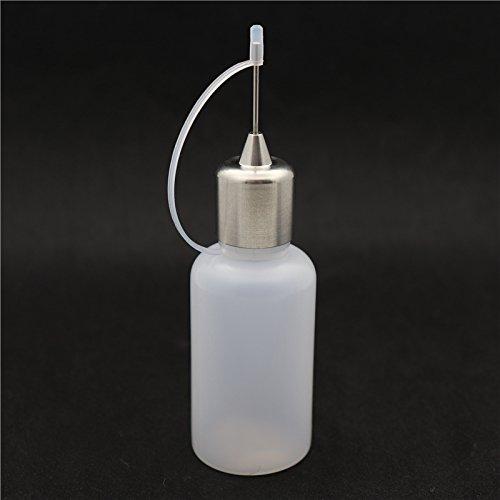 RUIYITECH Leer Nadel-Flasche für E-Liquid PE + Edelstahl/30ml E Saft Nadel Refill Flasche Vape DIY 30ml