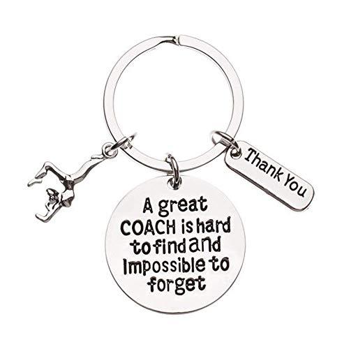 Infinity Collection Gymnastik-Trainer Schlüsselanhänger, Turn Trainer-Geschenk, ist groß Coach schwer zu Finden, Aber unmöglich zu vergessen Coach Keychain -