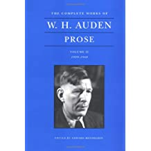 The Complete Works of W.H. Auden: Prose: Volume II, 1939–1948