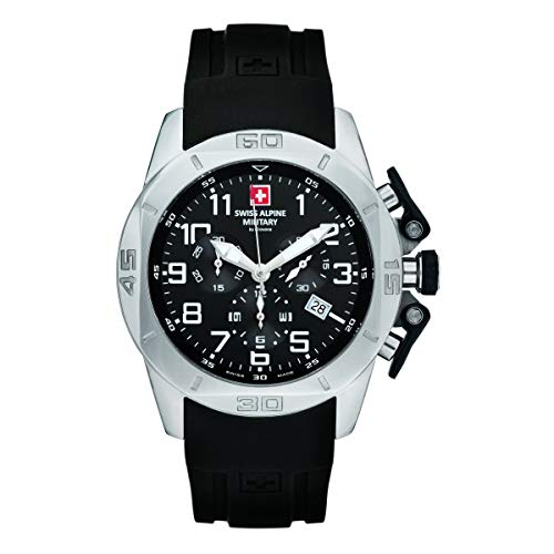 Swiss Alpine Military Herren Uhr Chrono 7063.9837SAM Silikon
