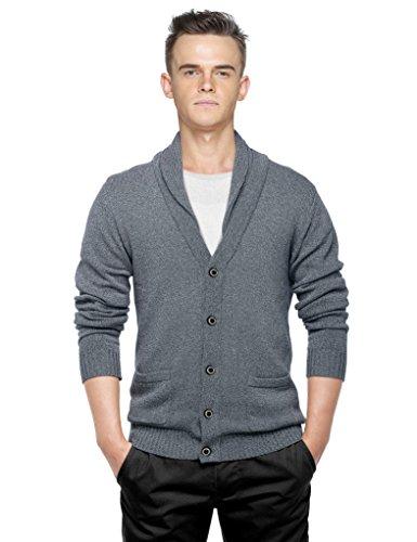Match Herren Sweatshirt Strickjacke Schal Strick Jacke Series #12088(12088 Dunkel heather grau,Tag size XL(DE M))