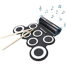 Wasanstore Rouler Kit Pad Portable batterie électronique avec haut-parleur Le cadeau le jour de Noël de divertissement pour enfants cadeau enfants