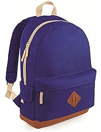 Bag base - sac à dos losirs style rétro vintage - 18L - BG825 - HERITAGE BACKPACK - coloris bleu roi