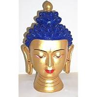 Fiera di ceramica Nepalese testa di Buddha