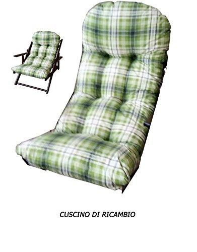 Liberoshopping Coussins Coussin Super rembourré de Rechange pour Fauteuil Chaise Longue Relax Tissu Coton