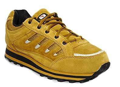 Lakhani 111 Camel Men Leather Sports Running Shoe (7 UK)