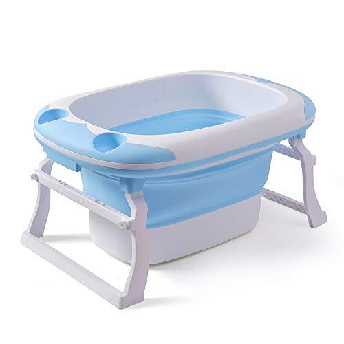 SZYGX Neugeborenes Baby Falten Badewanne Baby Swim Tubs Bad Körper waschen tragbare Falten Kinder Bebe Badewanne Bad Eimer Schwimmbad,Blue - Kinder-körper-waschen