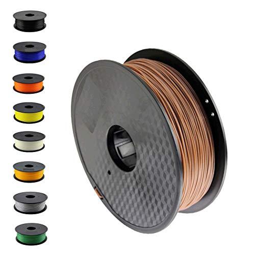 DruckerRhino 3D Druck PLA Filament 1,75 mm 1kg Rolle für 3D Drucker oder Stift in Vakuumverpackung Braun