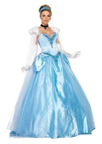 Disney Princesses Deluxe Cinderella Costume Dress Adult Small