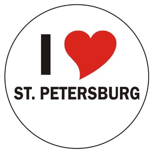 Die St Orte, (Aufkleber / Sticker / Autoaufkleber - I love St. Petersburg Aufkleber - 8 cm Durchmesser rund - JDM / Die cut / OEM - Auto / Heckscheibe - aussenklebend)
