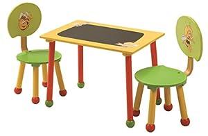 roba Maja 50811 BM1 - Mesa con dos sillas de madera para niños, diseño La abeja Maya importado de Alemania