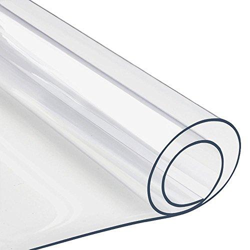 Yahee PVC Mantel Transparente Rectangular Impermeable para Mesa Cocina 120 x 90 cm 150 x 90 cm (120 x 90 cm)