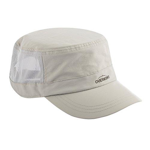 Imagen de overmont unisex tejado plano militar sombrero  de beisbol ajustable y transpirable de secado rápido parasol gris/verde alternativa