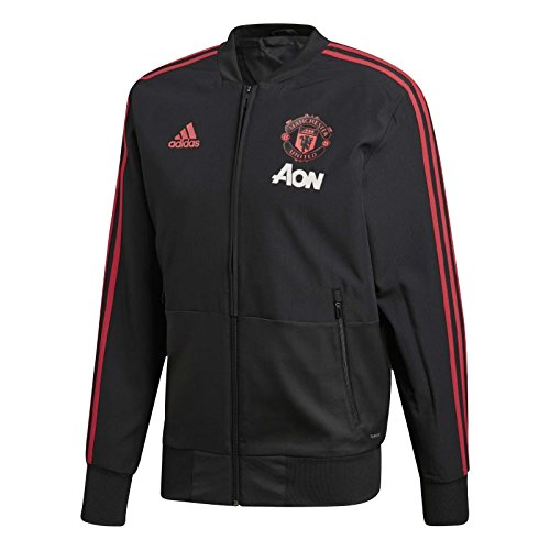 adidas Manchester United FC Presentation, Giacca Uomo, Black/Blaze Red/Core Pink, XXL