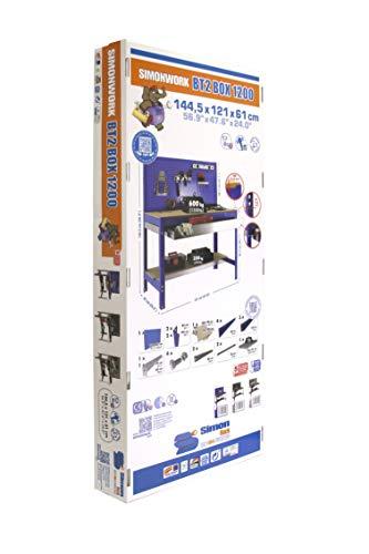 simonrack bt-2Box 1200-Set Werkbank blau/Holz - 6