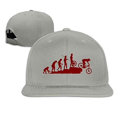 Unisex Interesting Mountain Bike Adjustable Flat Brim Baseball Cap Hip Hop Hat Flat Brim Fitted Wool Cap