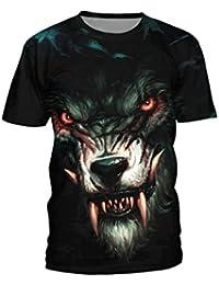 Jiayiqi Mode Pour des Hommes Imprimé à Manches Courtes T-Shirts