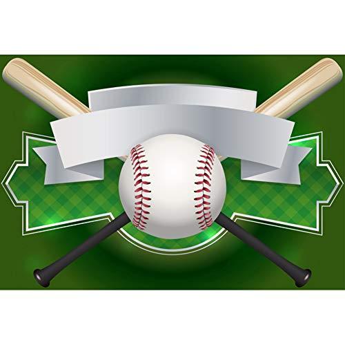 OERJU 1,5x1m Sport Hintergrund Baseballschläger Banner Rahmen Grünes Feld Baseball Hintergrund Sport-Party Kinderspiel Athlet Sportausrüstung Produkt Fotografie schießen Requisiten