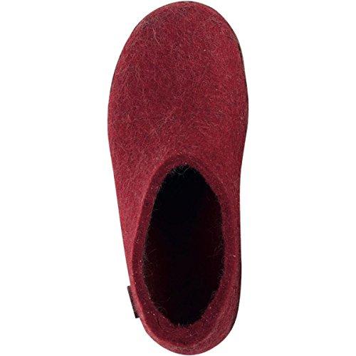 Glerups G-01-00 Unisex-Erwachsene Filz Hausschuhe Red