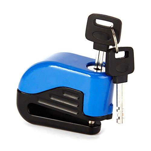 xtlstore Safe Alarm Diebstahlschutz Sicherheit Fahrrad Lock Bremsscheibe Lock Motorrad Guard mit 2Schlüsseln, blau