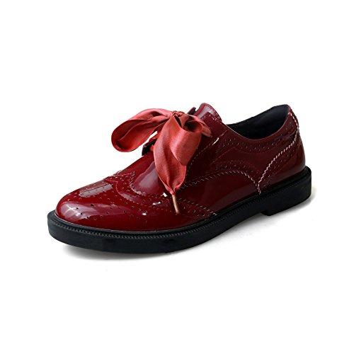 MEI&S Donna fondo piatto scarpe scarpe di piattaforma JuJube Red