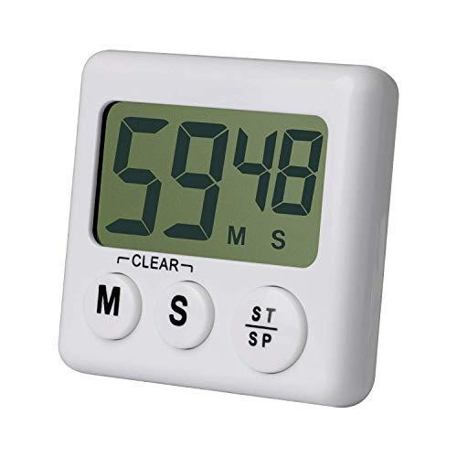 Qootec Küchentimer,Digitale Zeitschaltuhr für die Küche,Großes LCD-Display,Lauter Alarm,Magnetische Rückseite,Memoryfunktion, Countdown und Zählung,Multifunktion,Kochen,Training,etc EU002 ...