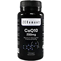 Coenzima Q10 200mg, 120 Cápsulas | Máxima Absorción y Biodisponibilidad | 100% Natural CoQ10