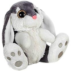 Barrado - Conejo de Peluche sentado 29cm Calidad super soft - Color Gris
