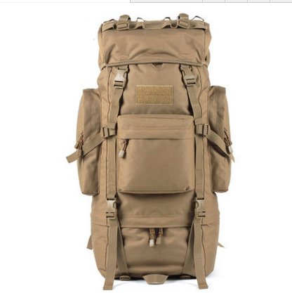 Outdoor Rucksack große Kapazität camouflage Bergsteigen Taschen Rucksack, schwarz, 100L mit Wasserdichte Haube (D) 65 L mit Wasserdichte Haube