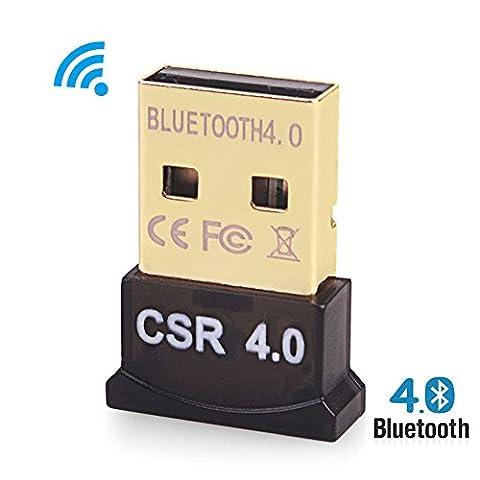 Bluetooth Dongle USB Stick Adapter 4.0 für PS4 Controller und XBox   Win 10 Professional 64 Bit   Verbinden Sie kabellos Ihr Headset, Autoradio   Mac Linux Raspberry Pi