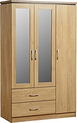 Seconique Charles 3 Door Wardrobe produced by Seconique - quick delivery from UK.