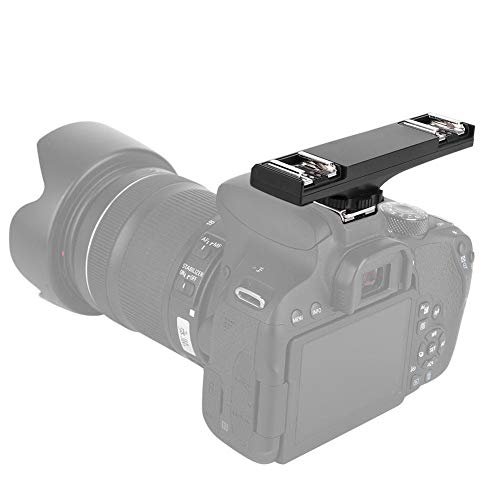 VBESTLIFE Dual Blitzschiene Einstellbar Blitzschuh Halterung für Speedlite-Kameras Kompatibel mit I-TTL- und SLR-Camcordern von Nikon und...