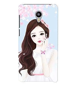 Printvisa Cute Girl Flower Shower Pic Back Case Cover for vivo V3