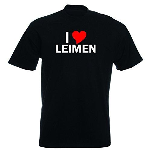T-Shirt mit Städtenamen - i Love Leimen - Herren - unisex Schwarz