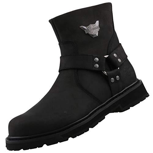 Harley-Davidson Footwear kompatibel mit Harley-Davidson Biker Stiefel Schwarz, Schuhgröße:EUR 43 (Stiefel Davidson Damen Harley)