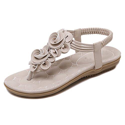 Da donna Scarpe sandalo flip-flop Di fiori Stili Boemia albicocca