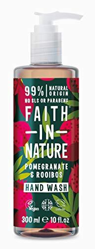 Faith in Nature Grenade Bio et Rooibos Naturel Lavage à la main 300 ml