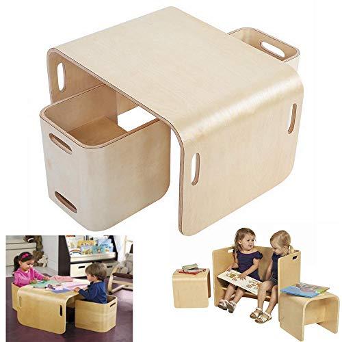 lyrlody Tisch und Stühle für Kin...