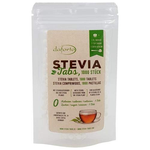 Daforto Stevia Tablets Refill Package, 1000 Tablets