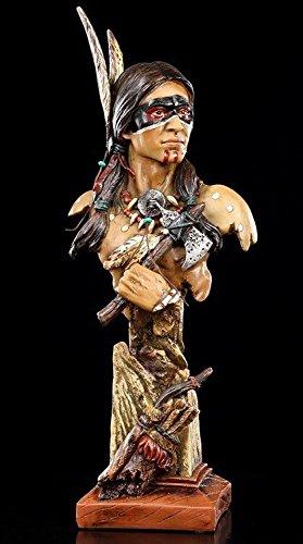 Indianer Büste - Indianer Figur mit Tomahawk