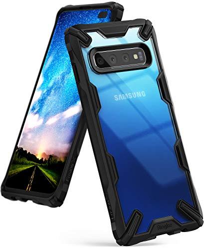 Ringke Fusion-X Custodia Compatibile con Galaxy S10 Plus (6.4'), [Difesa Militare Testata] Protezione per Paraurti Posteriore TPU Resistente agli Urti Ammortizzante Cover Galaxy S10 Plus - Black Nero