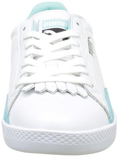 Puma Match Lo Reset Wn's, Sneakers Basses Femme Blanc (Puma White-aruba Blue 02)