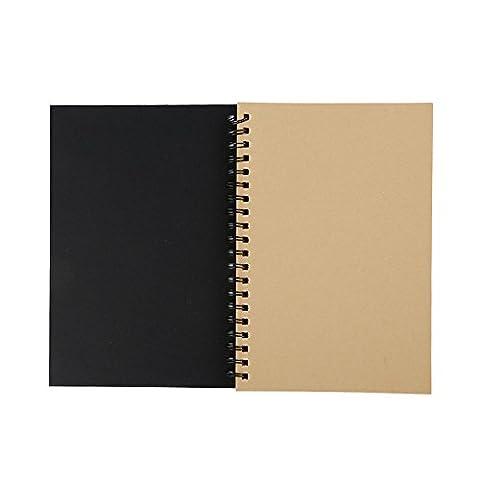 Laitb 12x18cm Skizzenblock 104 Papier Sprial Skizzenbuch Notebook Cover Kraft Sketching Paper Sketchbook